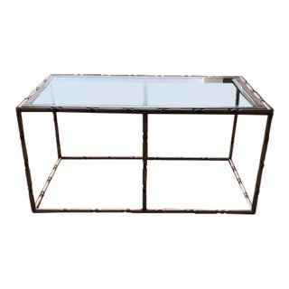 Traditional Robert Allen Arcadia Silver Leaf Cocktail Table For Sale
