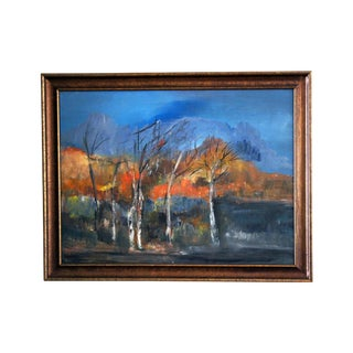 "1970s Vintage ""Golden Fall"" Oil Painting For Sale"
