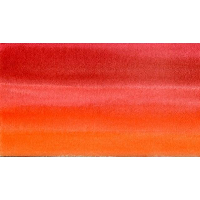 Watercolor Pink Red Orange Original Watercolor Artwork For Sale - Image 7 of 9