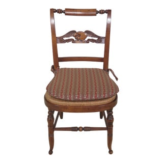 Early American or Colonial Style Rush Seat Side Chair For Sale