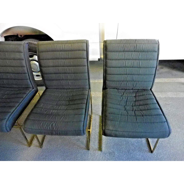 1970's Mid-Century Modern Milo Baughman Dining Chairs - Set of 4 For Sale - Image 10 of 13