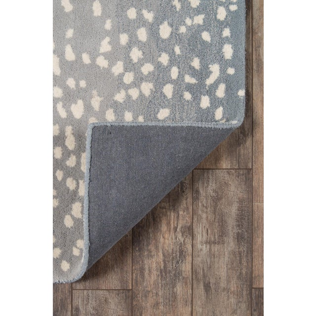 """Textile Erin Gates Woodland Antelope Blue Hand Tufted Wool Area Rug 7'9"""" X 9'9"""" For Sale - Image 7 of 9"""