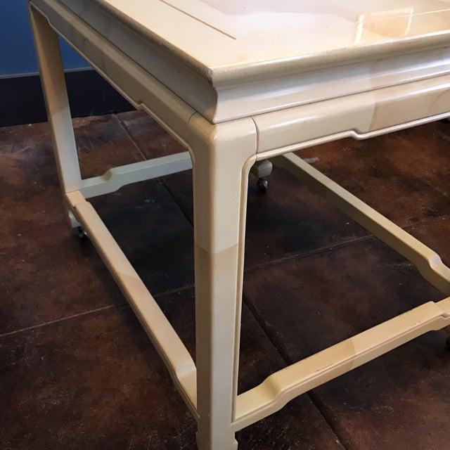 Henredon Chinoiserie Goatskin Lacquer Table - Image 8 of 11