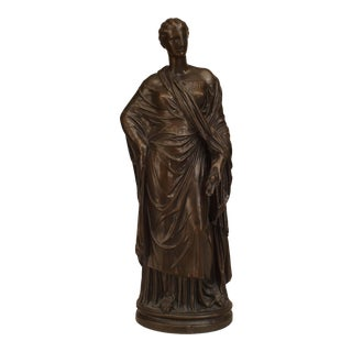 Neoclassic Patinated Bronze Ceres For Sale