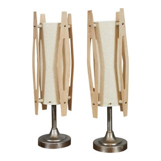 Mid-Century Modern Table Lamps - A Pair For Sale