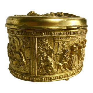 1900s French Gilded Ring Box For Sale