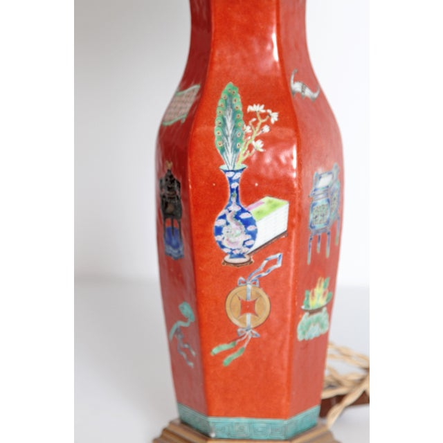 Asian Pair of Early 19th Century Porcelain Chinese Vases as Lamps For Sale - Image 3 of 13