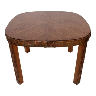 Mid Century Modern Lane Furniture Brutalist Dining Table For Sale