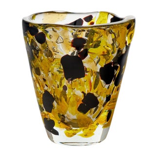 "Contemporary Murano Glass ""Pollock"" Vase For Sale"