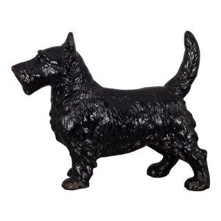 Cast Iron Scottish Terrier Doorstop by Hubley C.1910-1940 For Sale