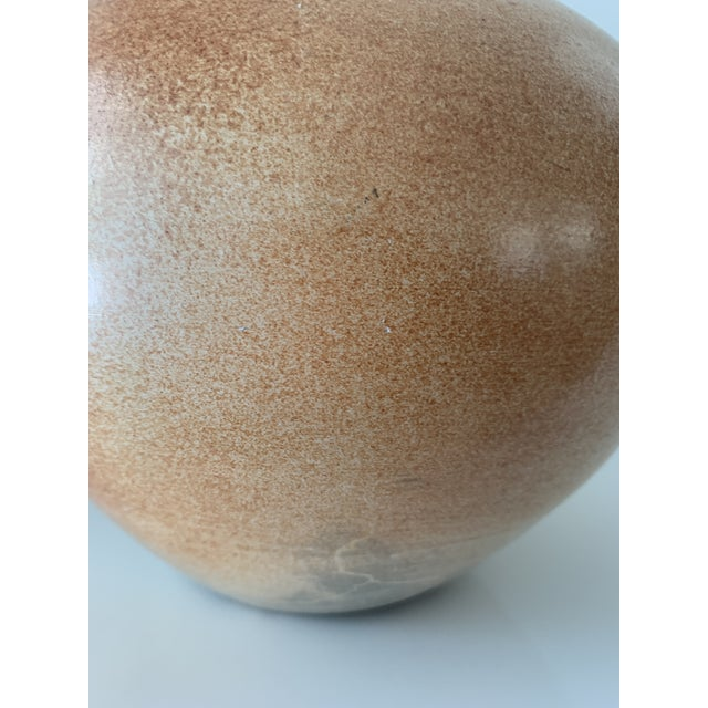 1990s Vintage Brown Fiona Smith Pottery Vase For Sale - Image 5 of 12