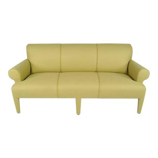 Donghia Three-Seat Sofa Fully Upholstered in Holly Hunt Camel Wool Felt