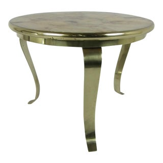 Bronze Side Table with Onyx Top by Muller For Sale