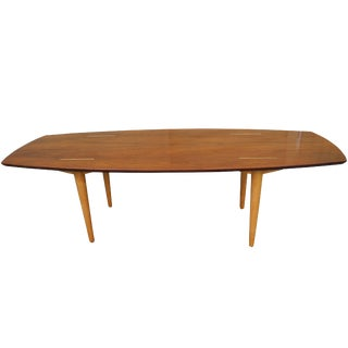 Mid-Century Modern Walnut and Birch Coffee Table Abel Sorenson for Knoll For Sale
