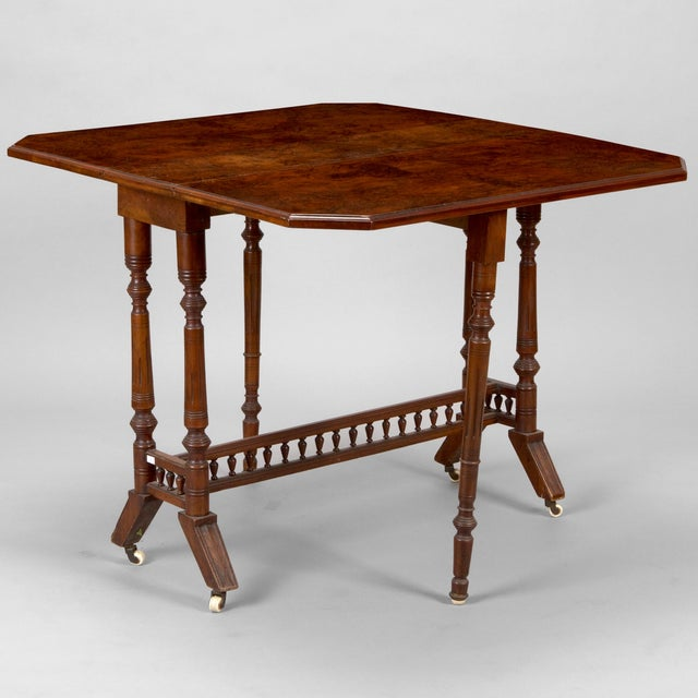Belgian Walnut Drop-Leaf Table - Image 2 of 4