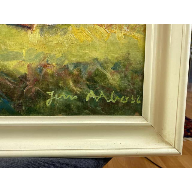 """Jens Aabo """"Danish Coastal Pathway"""", Impressionist Oil Painting, 1956 For Sale In San Francisco - Image 6 of 13"""