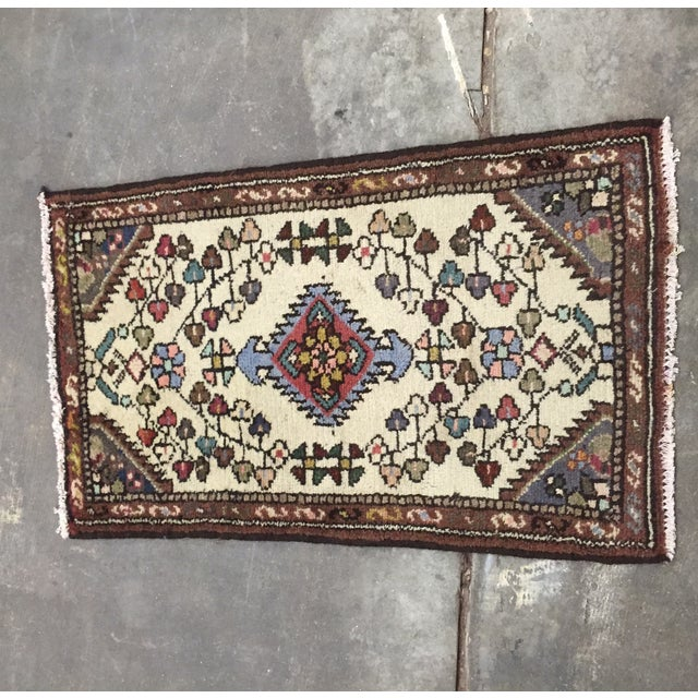 "Vintage Hamadan Persian Rug - 1'8"" X 2'10"" - Image 2 of 8"