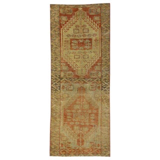 20th Century Turkish Oushak Accent Rug - 2′6″ × 6′3″ For Sale