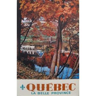 1960s Canadian Travel Poster, Quebec 'La Belle Province' - Fall in Baie Saint-Paul, Côte De Charlevoix For Sale