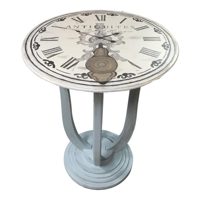 French Clock Accent Table For Sale