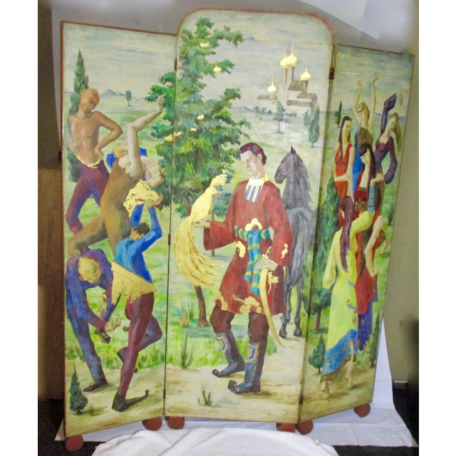 1930s Russian Fairy Tale Floor Screen For Sale - Image 13 of 13