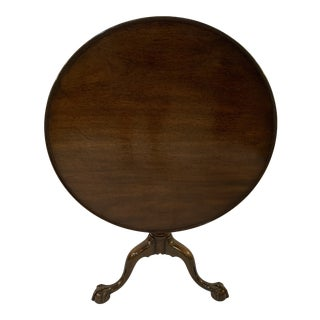 British Colonial Kittinger Tilt-Top Table For Sale
