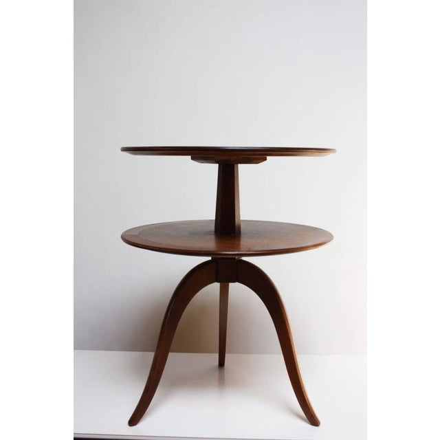 Edward Wormley for Dunbar, Two-Tier Mahogany Occasional Table - Image 3 of 10