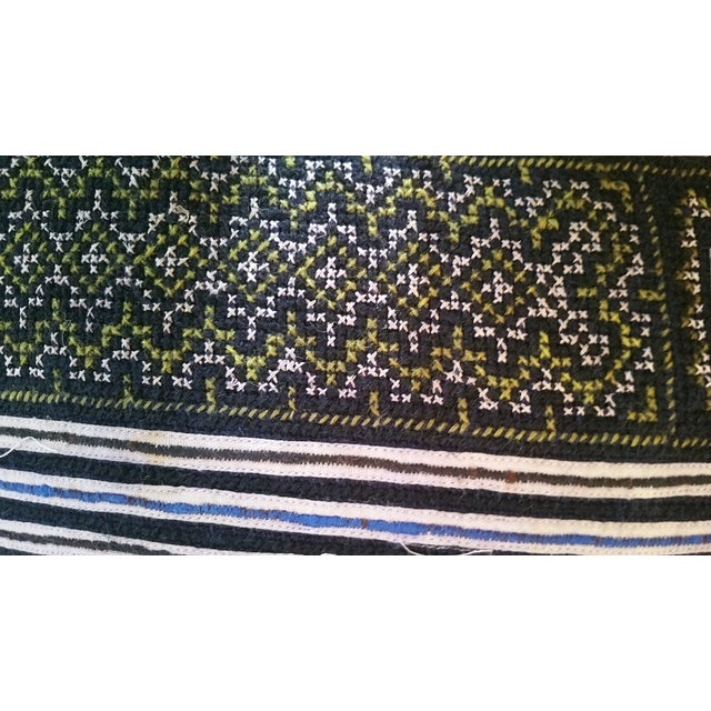 Embroidered Batik Tribal Pillows For Sale - Image 5 of 6