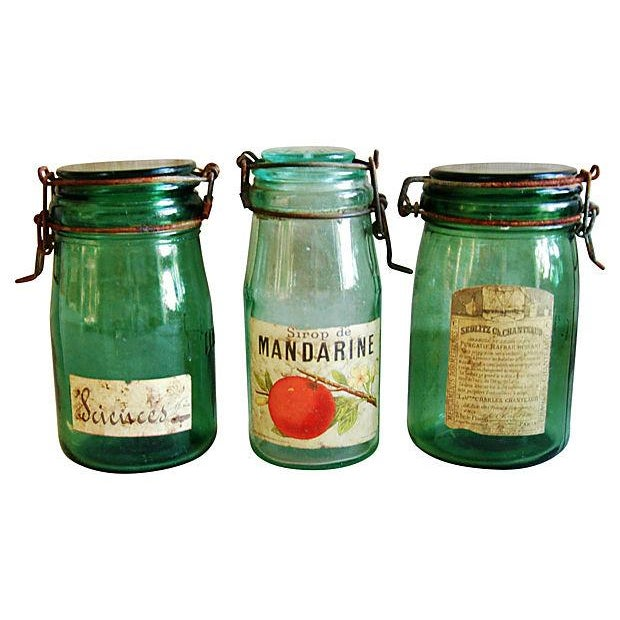 Early French Preserve Canning Jars - Set of 3 - Image 1 of 6