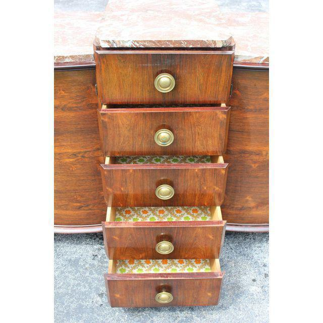 1940s Art Deco Grand Scale Macassar Ebony Sideboard For Sale In Miami - Image 6 of 12