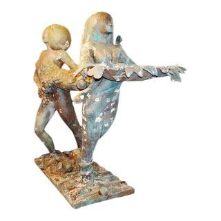 Goddesses of Abundance World Trade Center Sculptures - a Pair For Sale