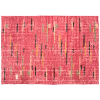 "1960s Turkish Art Deco Rug - 6'10"" X 9'11"""