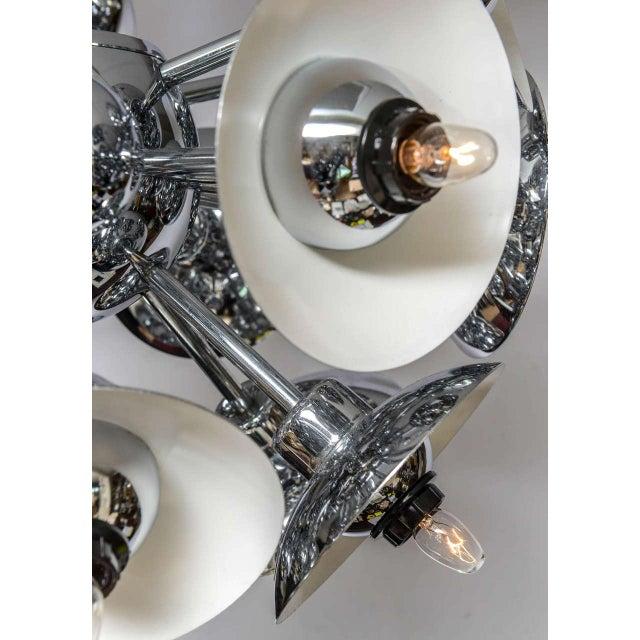 Eighteen-Light Chrome Sputnik Chandelier For Sale - Image 4 of 9