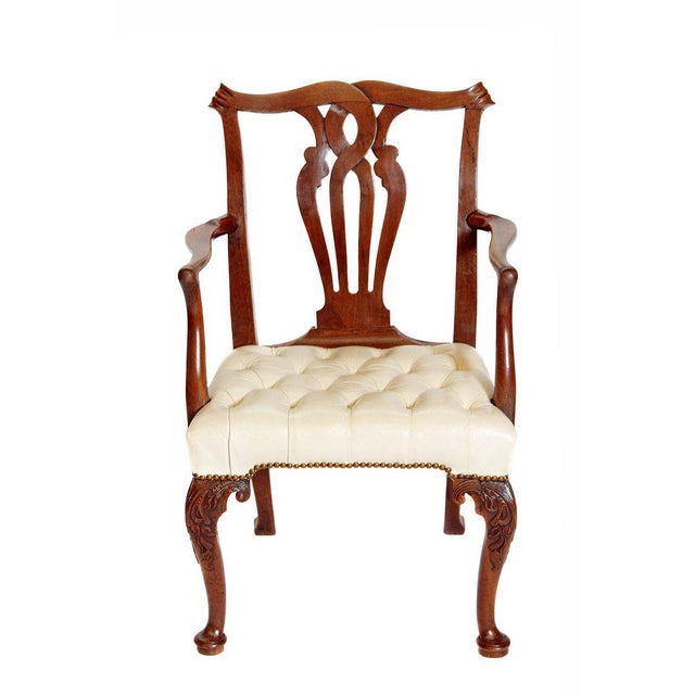 18th Century Chippendale Mahogany Armchair For Sale - Image 12 of 12
