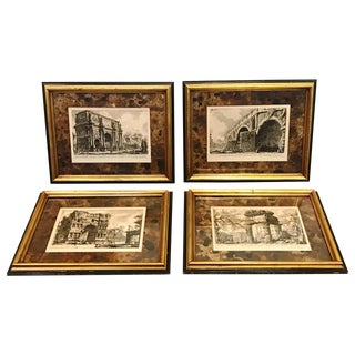 19th Century Italian Four Piranese Engravings - Set of 4 For Sale