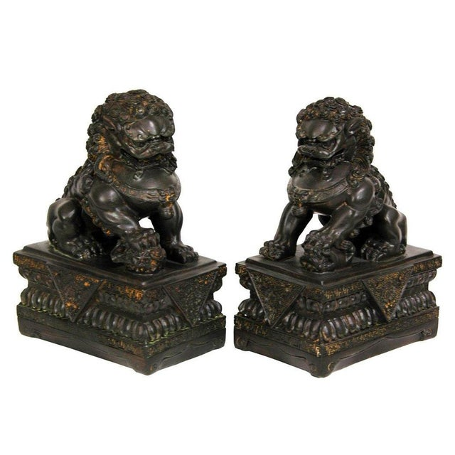 Chinese Foo Dog Statues - A Pair - Image 4 of 4