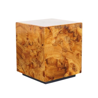 Vintage Burl Wood Side Tables by Pace Collection For Sale