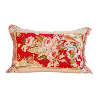 19th Century French Aubusson Pillow For Sale
