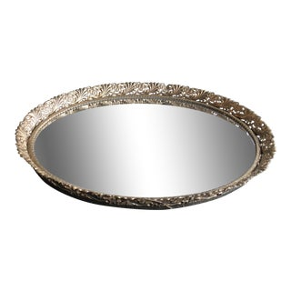 1960s Filigree Vanity Mirror Tray For Sale