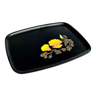 Vintage Couroc Poppy Tray For Sale