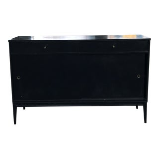 1950's Mid Century Ebonized Planner Group Credenza by Paul McCobb For Sale