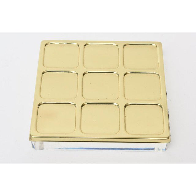 Brass Tic Tac Toe Game Mid-Century Modern For Sale In Miami - Image 6 of 9
