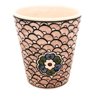 Neslihan Contemporary Handpainted Tea/Coffee Cup From Tamam For Sale