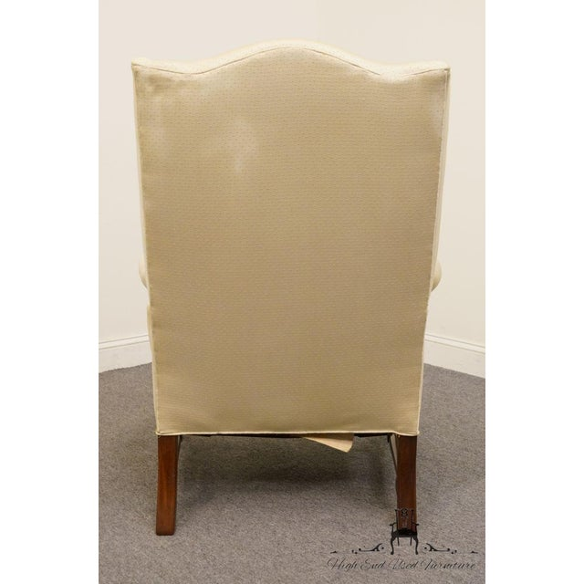 Hickory Chair Furniture Company Hickory Chair Upholstered Mahogany Wing Back Chair For Sale - Image 4 of 9