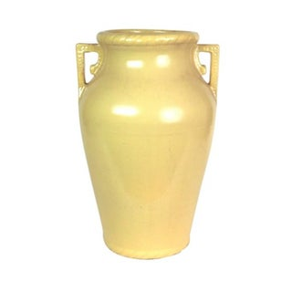 Mustard Yellow Art Pottery Floor Vase For Sale