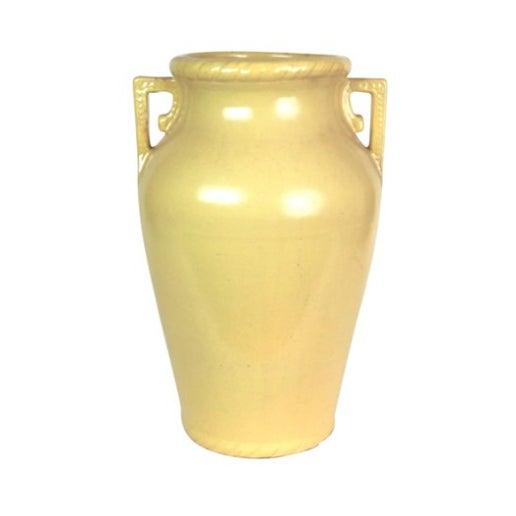 Mustard Yellow Art Pottery Floor Vase - Image 1 of 3
