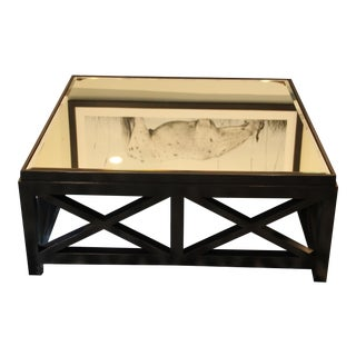 20th Century Contemporary Mirrored Coffee Table For Sale