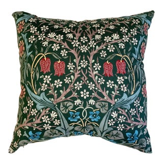 "William Morris Blackthorn Pillow, 20"" For Sale"