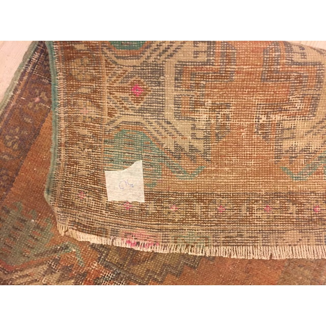Antique Turkish Handwoven Rug - 1′6″ × 3′ - Image 5 of 6
