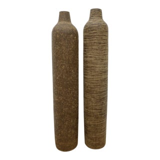 Domingos Tortora Sculptural Vases - a Pair For Sale
